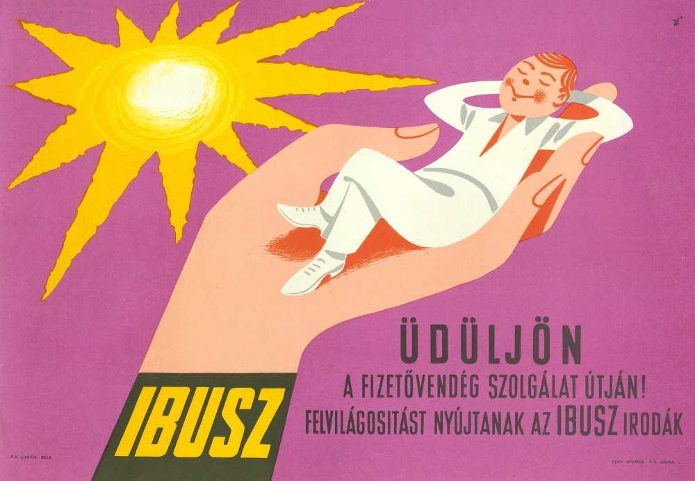 Üdüljön a fizetővendég szolgálat útján. Jelzet: PKG.1959/318 – Plakát- és Kisnyomtatványtár