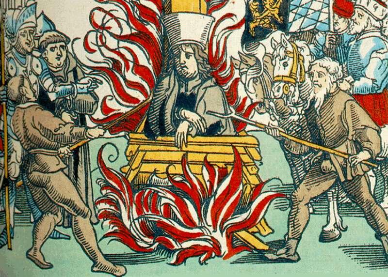 Husz János megégetése - Ulrich Richental krónikájából