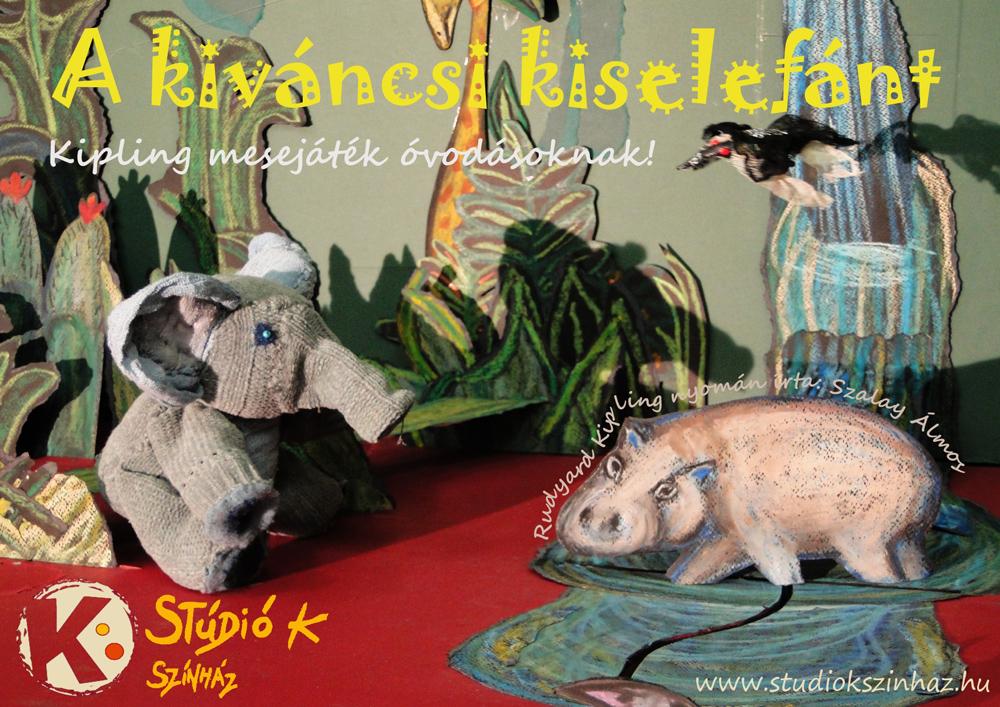 Stúdió K Színház: A kis elefánt című darab szórólapja. A Stúdió K színház engedélyével.