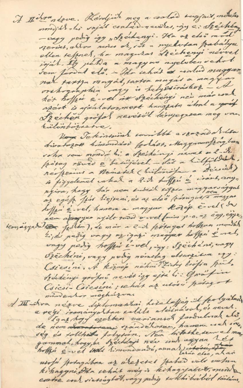 Mátray Gábor jegyzete 1874. április 18. – OSZK Irattár
