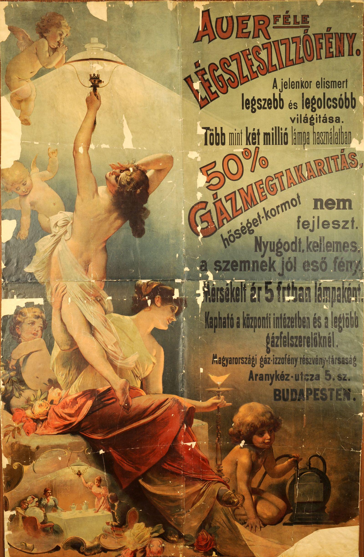Auer-féle légszesz izzófény ...  Budapest, [é.n.], [ante 1914]. – Plakát- és Kisnyomtatványtár http://nektar.oszk.hu/hu/manifestation/2770234