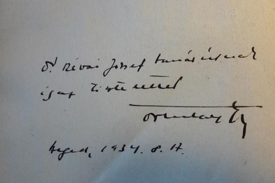 Ortutay Gyula: Tömörkény István, Szeged, Magyar Irodalomtörténeti Intézet, 1934. A szerző dedikációja