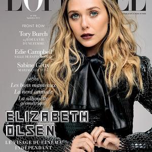 Elizabeth Olsen feketében