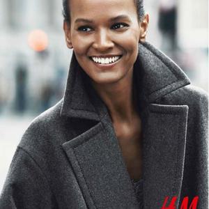 Kabát mustra H&M módra