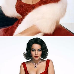 Lindsay Lohan Liz Taylorként