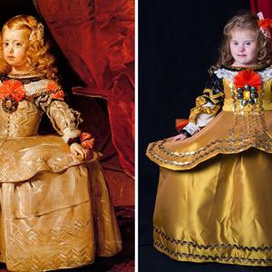Híres festmények(b)en Down-szindrómás gyerekek