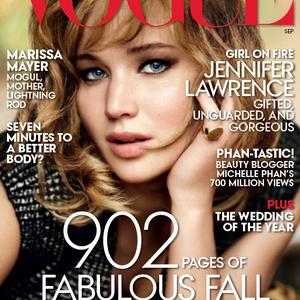 Jennifer Lawrence a Vogue-ot is bezsebelte