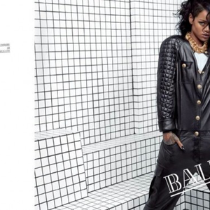 Rihanna a Balmain arca