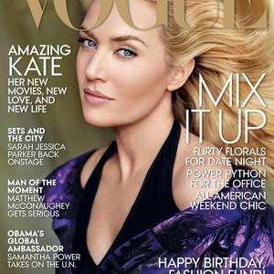 Kate Winslet szeme kék a Vogue címlapján