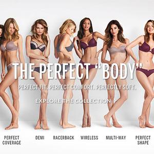 llyen a tökéletes test? Victoria's Secret másképpen!