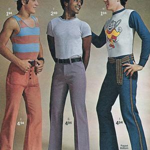 Férfiak, divat, hetvenes évek...