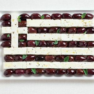 Nemzeti zászló a tányéron