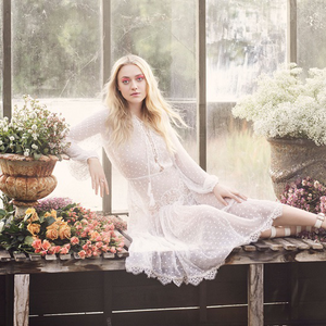Jimmy Choo Dakota Fanning lábán