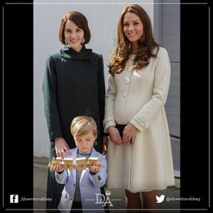 Katalin a Downton Abbey vendége volt