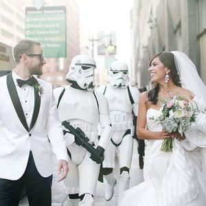 Réges régen, egy messzi galaxisban: Star Wars esküvő a javából!