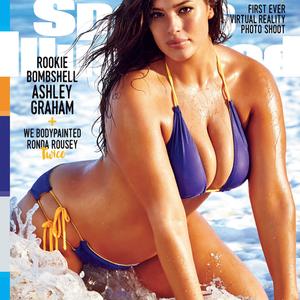 A Sports Illustrated címlapján Plus Size modell is szerepel
