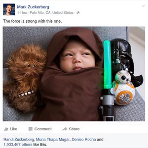 És akkor Mark Zuckerberg beöltöztette Star Wars jelmezbe a gyerekét és ezzel lavinát indított el