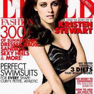 Kristen Stewart mosolyog az amerikai Elle címlapon