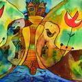 Rajzpályázatból kiállítás  a Nyitott Műhelyben
