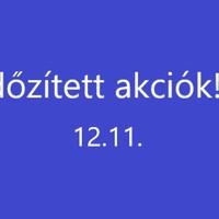Időzített akciók 12.11.