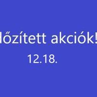Időzített akciók 12.18.