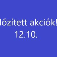 Időzített akciók 12.10.