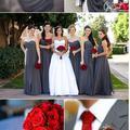 Red&Grey esküvői téma ღ