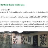 Kiállítások a Nógrádi Történeti Múzeumban