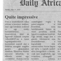 Dail(y) Africa - Elfogytak a jelzők
