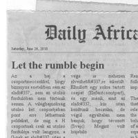 Dail(y) Africa - abcúg csoportkör!