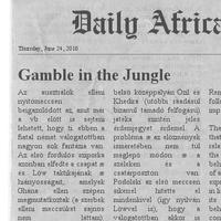 Dail(y) Africa - Matekosok előnyben
