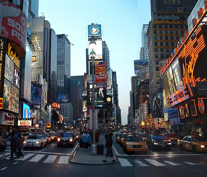 7. sugárút Times-square-one-view