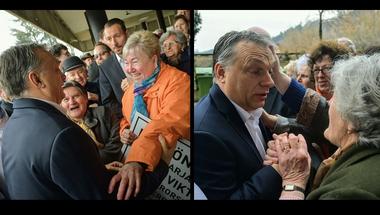 Üdvrivalgás fogadta Orbánt Salgótarjánban - Egy árva lélek nem tiltakozott az ellenzéki városban