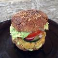 Csicseriborsós zöldségburger