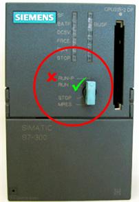 Az S7-300-as RUN (védett mód) funkciója