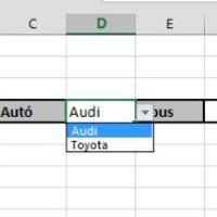 Játszadozás Data Validation Listekkel - egymáshoz kapcsolódás és statikus nyíl megjelenítése