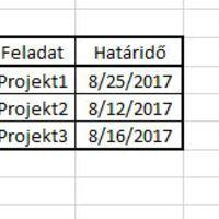 Automatikus értesítésküldés Excelből meghatározott időpontban