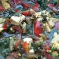 Palak tofu, avagy szójatúró fűszeres-spenótos szószban