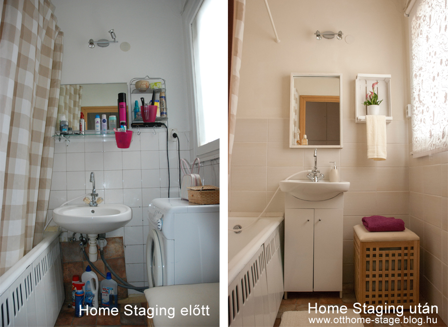 Fürdőszoba Home Staging előtt - Home Staging után