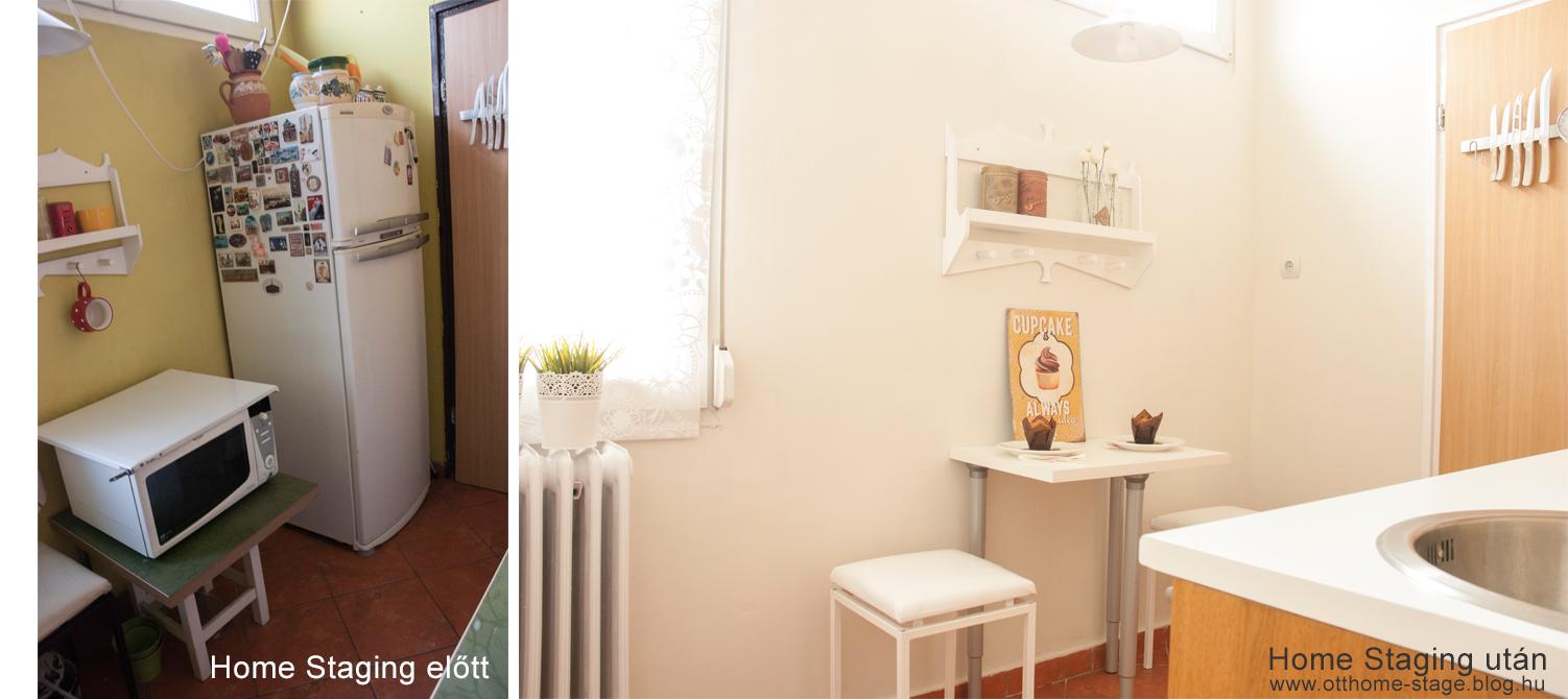 Konyha Home Staging előtt - Home Staging után