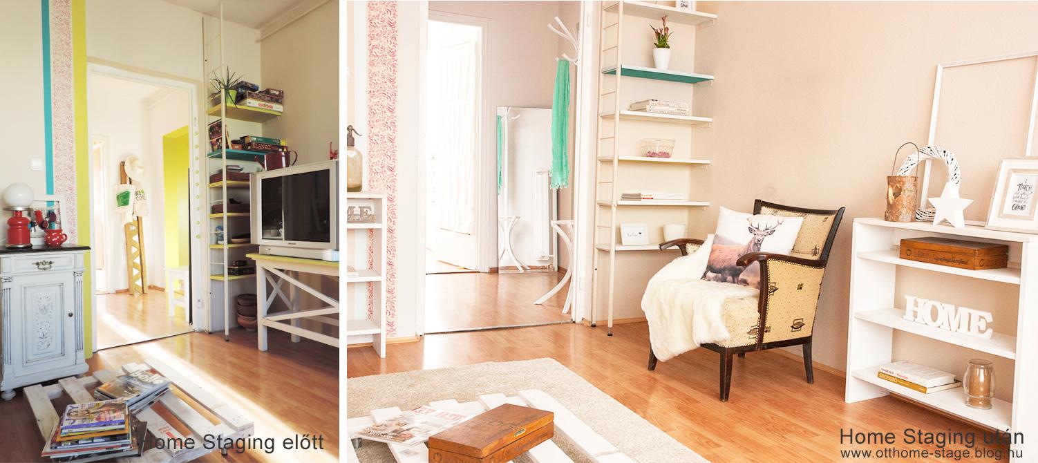 Nappali Home Staging előtt - Home Staging után
