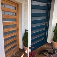 Bejárati ajtót festettem tengerkék színre