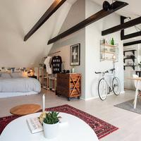 46 m2-en tetőtérben