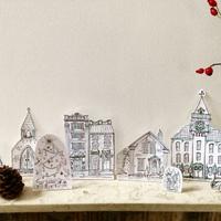 Karácsonyi papírváros - olcsó és mutatós