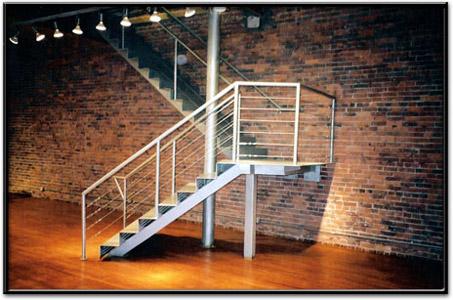 Korlát a lépcső mentén