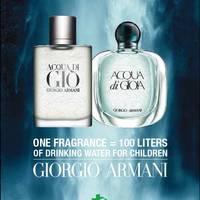 Giorgio Armani Acqua For Life - ismét adományozzunk vizet!