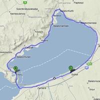 Balaton keleti öböl kerülés kerékpáron