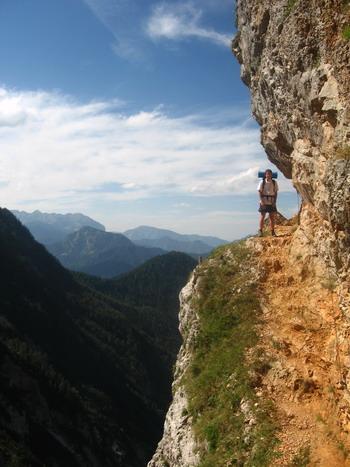 Az út a hegyoldalban