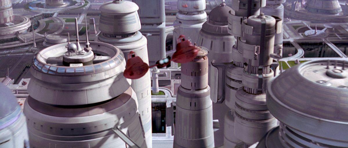 Felhőváros felhőkarcolói - jelenet a Star Wars Trilógia 1997-es felújított változatából.