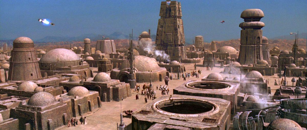 Mos Eisley űrkikötő - jelenet a Star Wars Trilógia 1997-es felújított változatából.